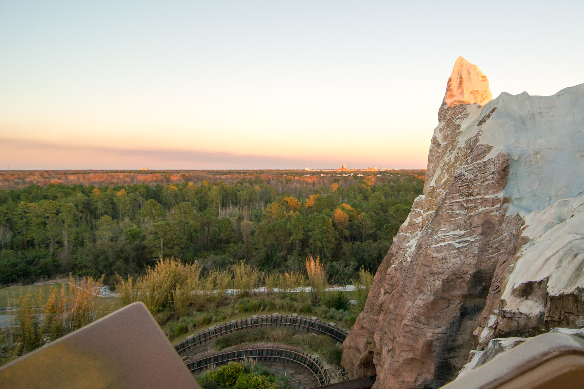 View from Expedition Everest at Sunset - Disney's Animal Kingdom