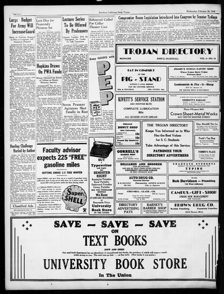 Daily Trojan, Vol. 26, No. 80, February 20, 1935