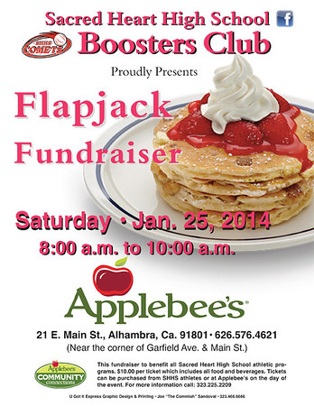 SHHS BOOSTERS CLUB FLAPJACK FUNDRAISER @ APPLEBEE'S • 01.25.14