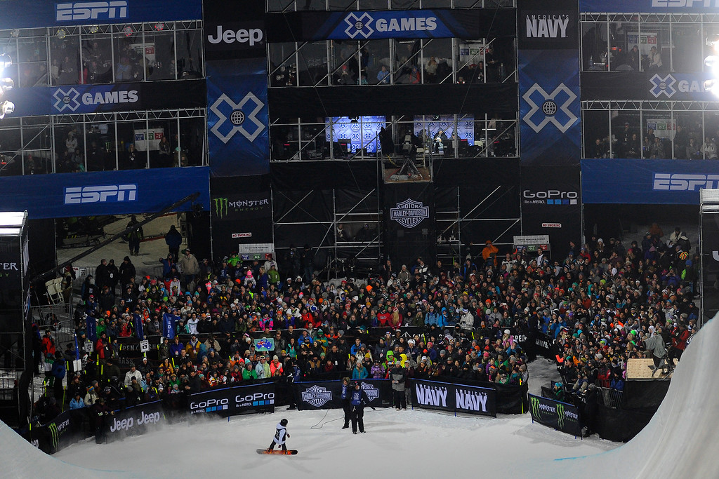 . Torah Bright wins bronze at the Women\'s Snowboard Superpipe finals, Saturday January 24, Winter X Games 2015 on Buttermilk Mountain.  (Photo By Mahala Gaylord/The Denver Post)