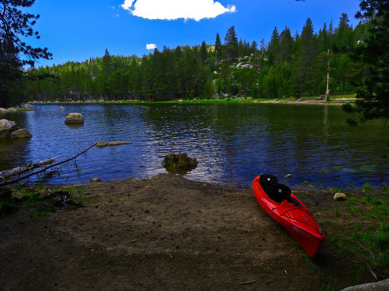 Lake Alpine, western shore.