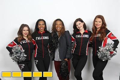 Falcons Cheerleaders and Bartkowski