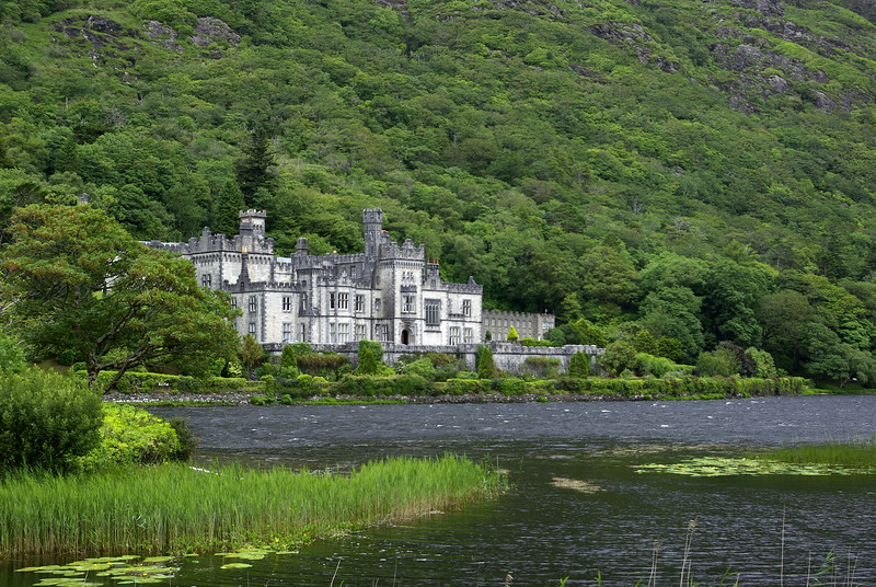 Kylemore Abbey, located in the Kylemore Pass in Connemara, County Galway, Ireland