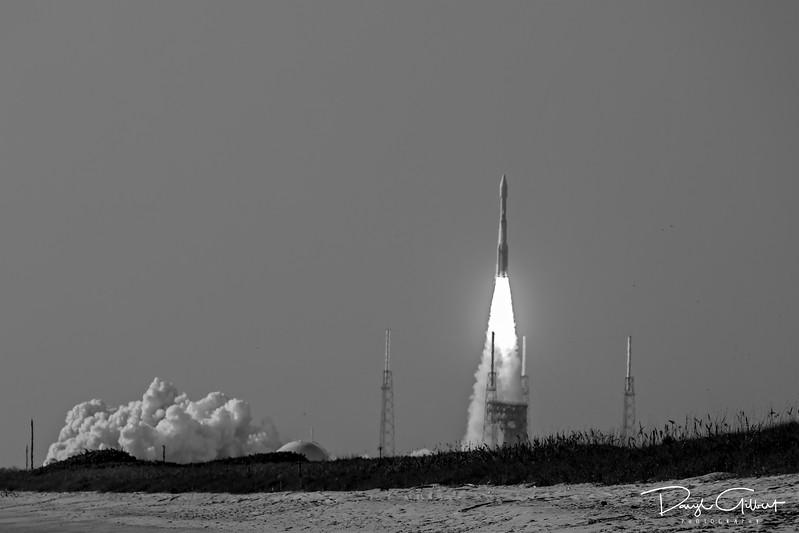 NROL-61 on an Atlas V Rocket in B&W