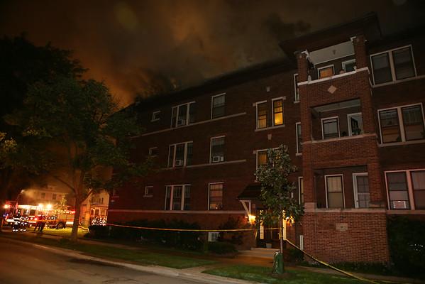 OAK PARK, IL 541 N HUMPHREY 3RD ALARM FIRE (09-03-2014)