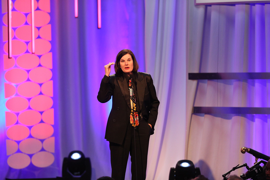 . Paula Poundstone speaks at the 15th Annual Movies for Grownups Awards at the Beverly Wilshire Hotel on Monday, Feb. 8, 2016, in Beverly Hills, Calif.  Poundstone will perfrom Oct. 20 at Playhouse Square. For more information, visit www.playhousesquare.org/events/detail/paula-poundstone-2017. (Photo by Rich Fury/Invision/AP)