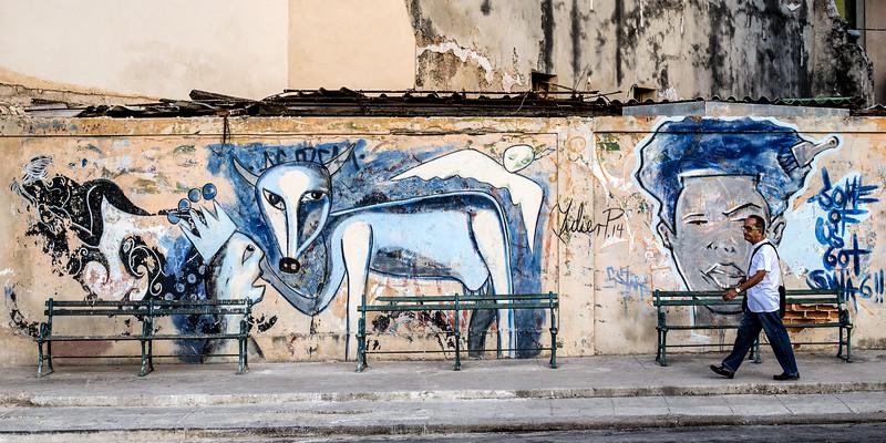 Grafitti, El Prado, Havana