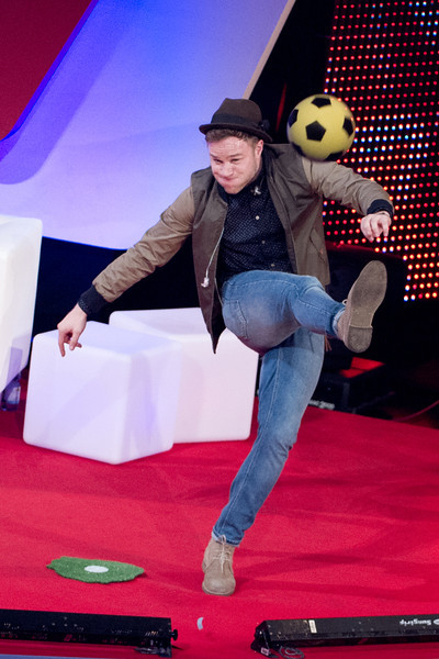 Olly Murs, Oliver Pocher, bei THE DOME 63 am 29.08.12 in Ludwigsburg im Forum Theater