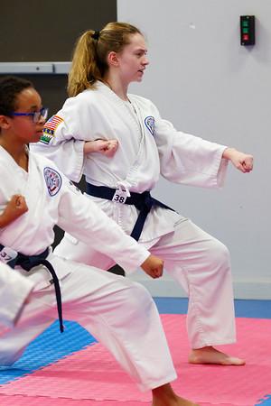2020 Feb Valentin Karate Belt Testing