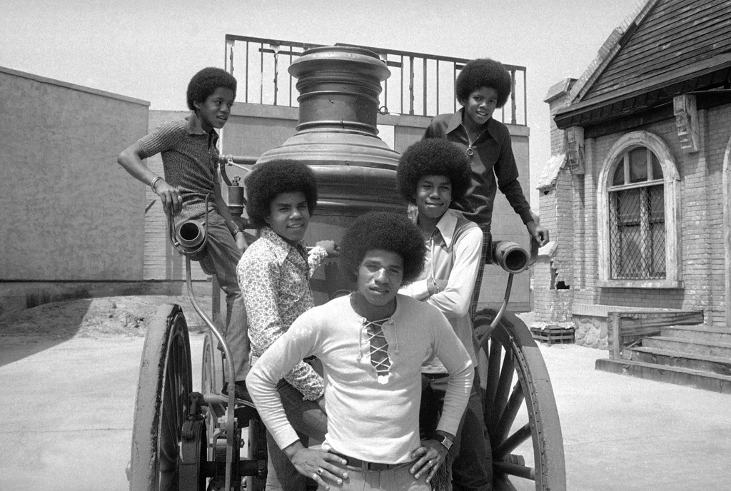. The five Jackson brothers who sing as the Jackson Five, are about ready to resume school after a summer �vacation� on August 31, 1971, that took them to 40 cities in 60 days, playing concerts that attracted as many as 160,000. At top are Marlon, 14; left, and Michael, 12. Below are, left to right: Jackie 20; Tito 17, and Jermaine, 16. (AP Photo/David Smith)