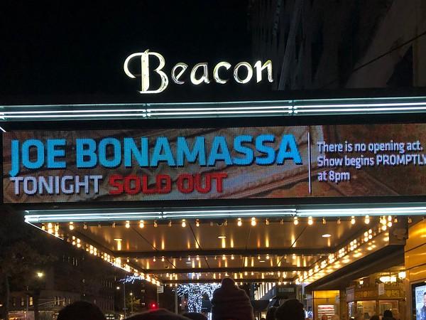 Joe Bonamassa, Beacon Theater, 11/16/19