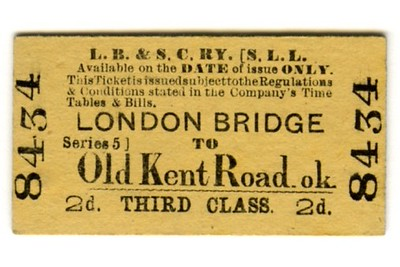 LBSCR 3rd class single tickets