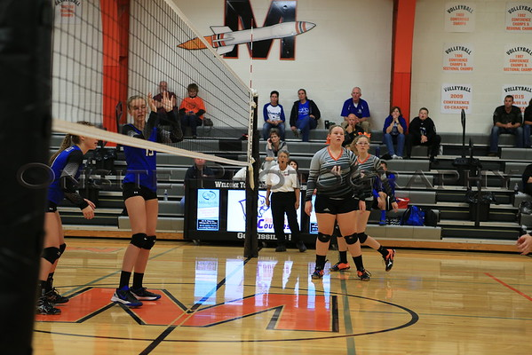 MHS vs Durand Volleyball 2016