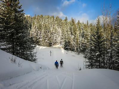 2014-01 Grande Tour of the Canmore Nordic Centre ski trails