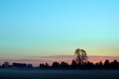 2015-05 Sunrise near Schijndel and Son