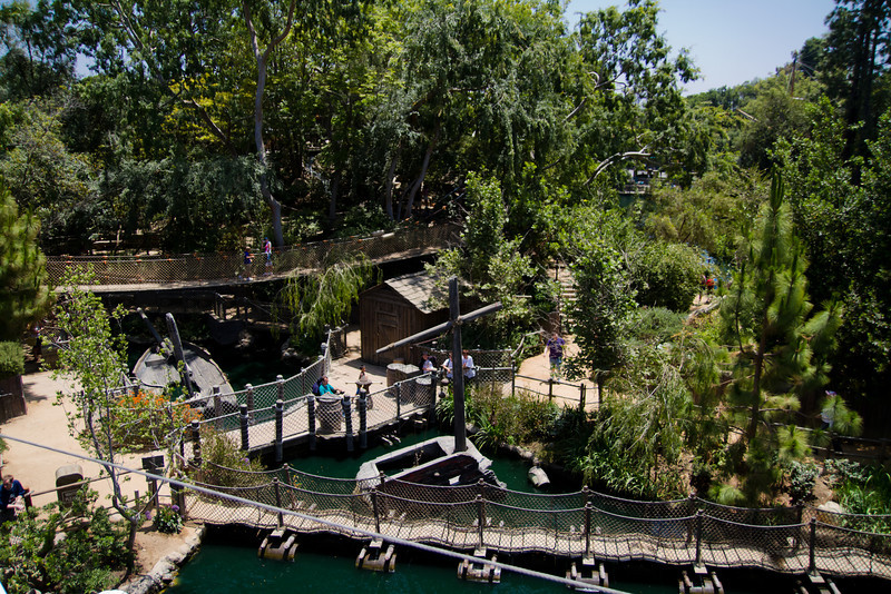 Pirates Play Area on Tom Sawyer's Island from the Mark Twain Riverboat Wheelhouse