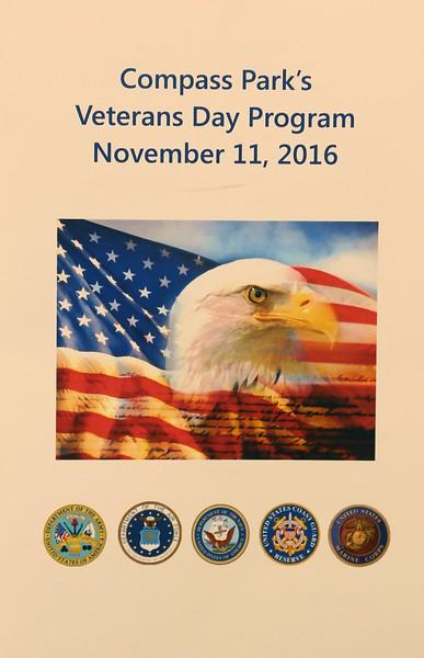 Compass Park's Veterans Day Program 11-11-2016