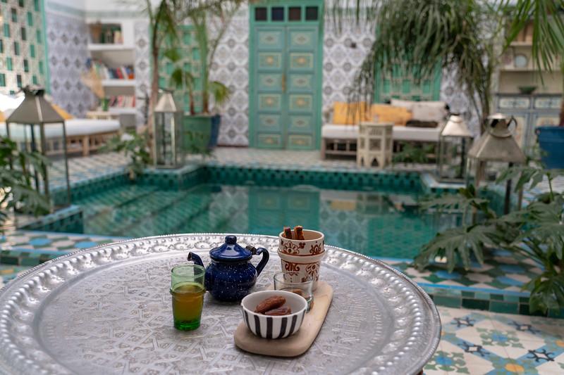 Tea at Riad BE Marrakech