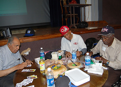 Chuck Harmon, Charlie Davis & Leo Cardenas visit Eastern H.S., Louisville, KY 050911. Photos by Lisa Williams