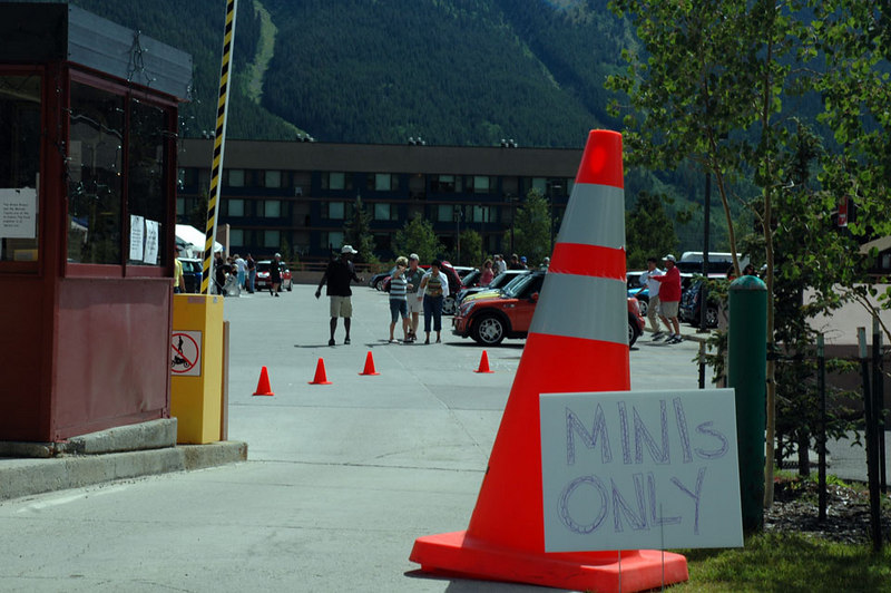 """Copper Mountain Resort was the base of operations -- 11 total """"rides"""" (routes) planned for maximum fun. The upper deck of the parking structure was reserved exclusively for new and classic MINI Coopers."""