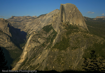 Half Dome as visible from the 4 Mile Trail in Yosemite National Park
