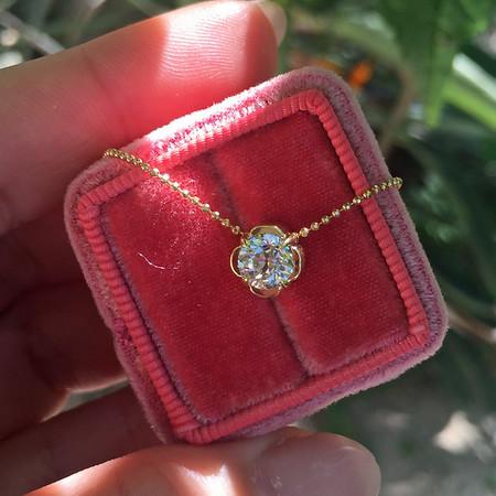 ".70ct Old European Cut Diamond, ""Clover"" Pendant Setting"