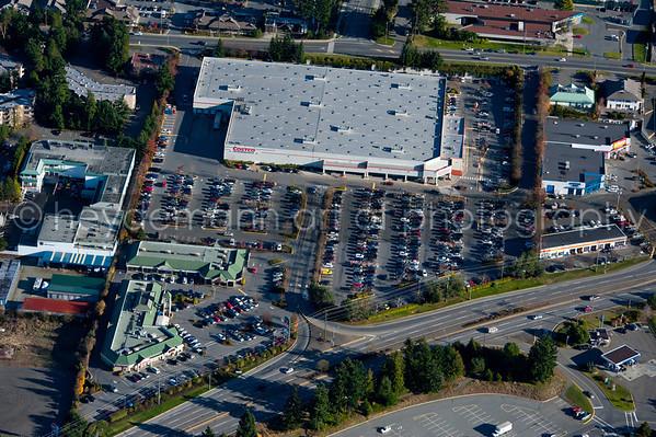 Aerials of Cost-co Nanaimo