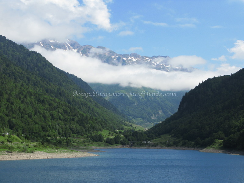 Looking north to Pic de la Sagette 2031m from Lac de Fabreges France