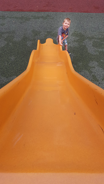 It is a mighty long slide!