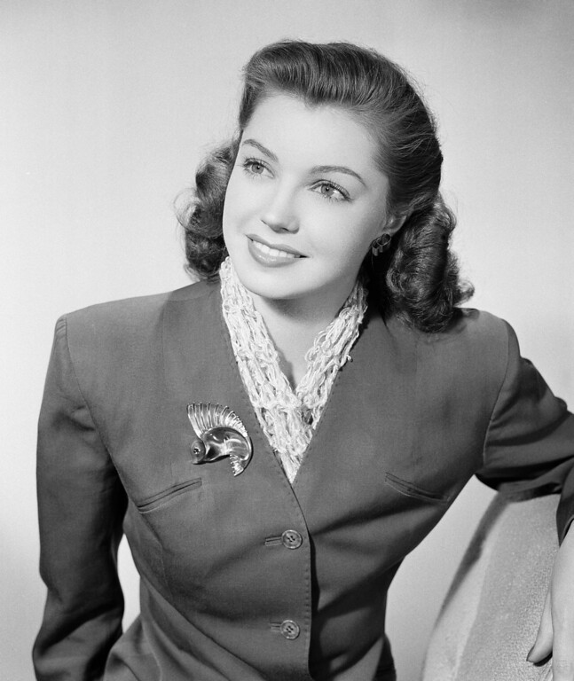 . Esther Williams, former national swimming champion, is shown Oct. 31, 1943, in Hollywood.  (AP Photo)