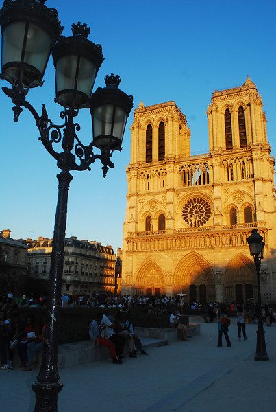 Notre Dame close to sunset.