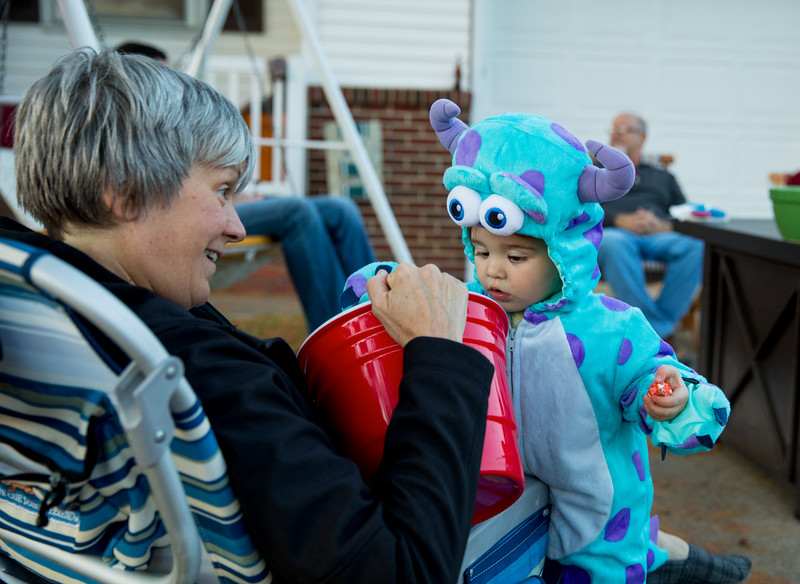 Caleb getting candy from bev.jpg