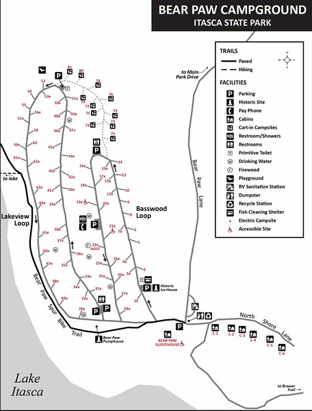 Itasca State Park (Bear Paw Campground)