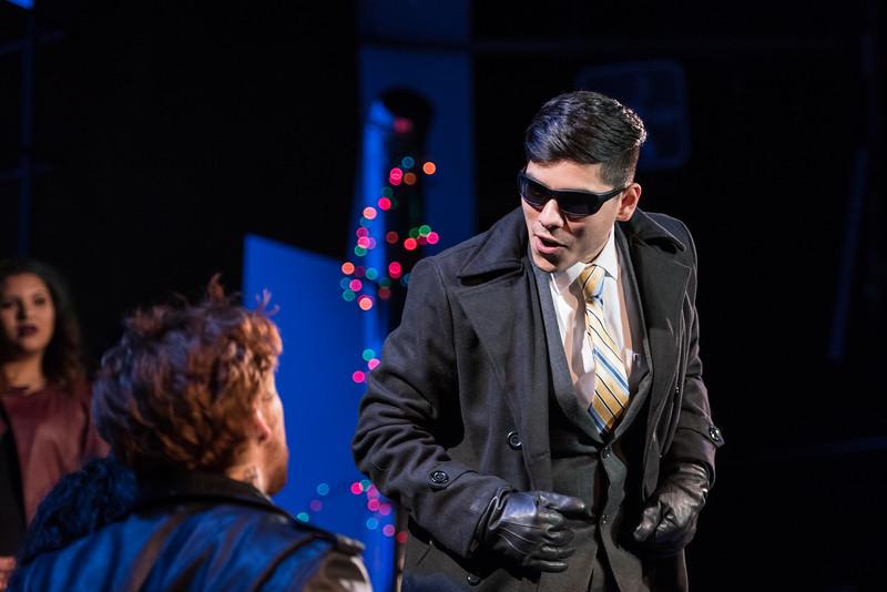 Sleezy business man, Benny, is played by Freddy Acevedo.