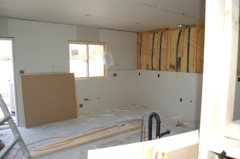 The kitchen - where are the cabinets?