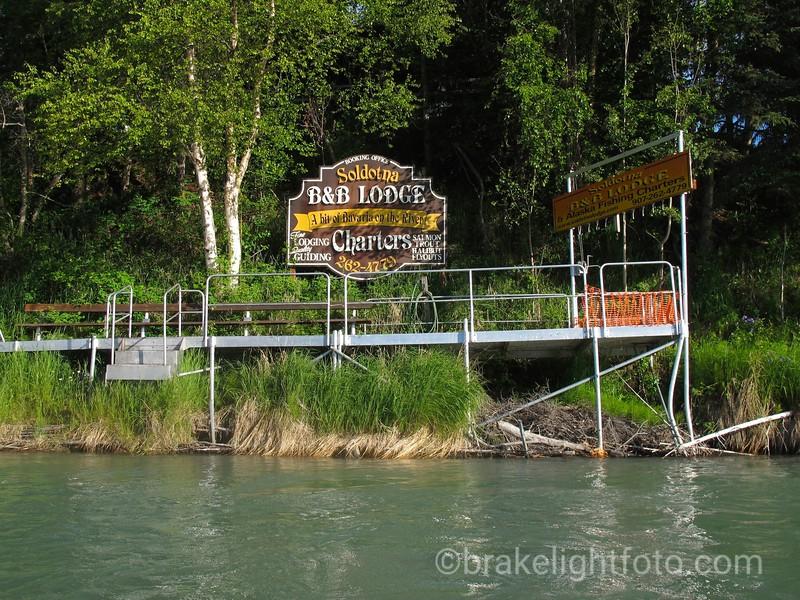 Soldotna B&B Lodge fishing platforms