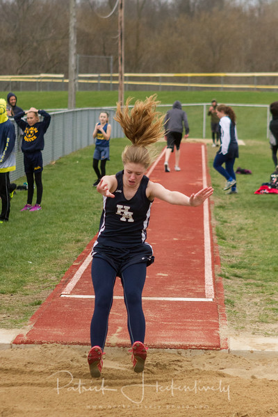 2017-04-13 Hillsdale Academy Junior High Track at Davis Relays