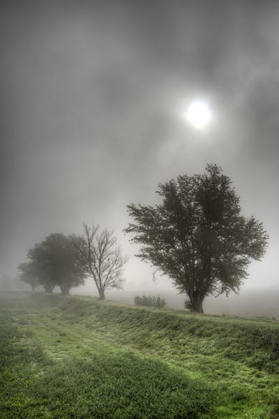 Padanian Sunrise - Sozzigalli, Soliera, Modena, Italy - October 18, 2013