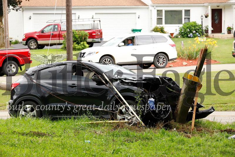 Evans City Road accident 5 p.m. or thereabouts. Tuesday 07/30/19 Seb Foltz