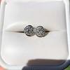 1.70ctw Old European Cut Diamond Clover Stud Earrings, GIA H-I SI 11