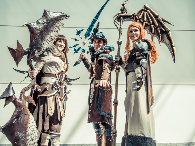 Cosplayers at Gamescom 2013