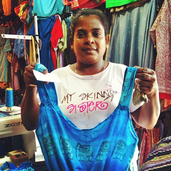 Custom made shirts at Unawatuna
