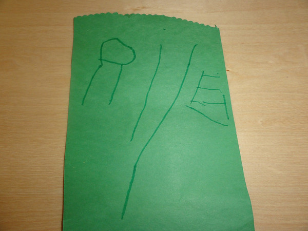 Riley can write his name!