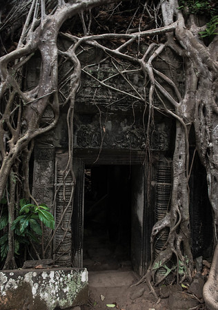Doorway at Beng Mealea temple.  Siem Reap, Cambodia -2017
