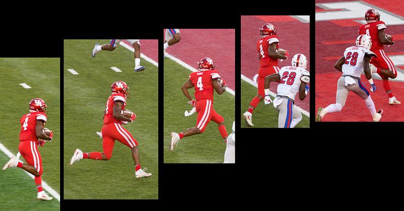 Finally, d'Eriq King breaks away for UH's first touchdown.