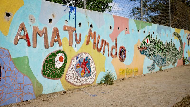 """Ama tu mundo"" in San Pancho, Mexico."