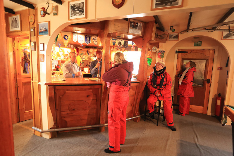 Common area, a really friendly and inviting bar and great hosts,  Akademik Vernadsky Station, Galindez Island 65 15S, 64 16W