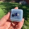 2.08ctw Sapphire and Diamond Ring, GIA No-Heat 10