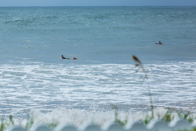 Surfers paddle out looking for a perfect wave on Palm Beach ahead of Hurricane Dorian side-swiping Florida's east coast on Labor Day, Monday, September 2, 2019. [JOSEPH FORZANO/palmbeachpost.com]