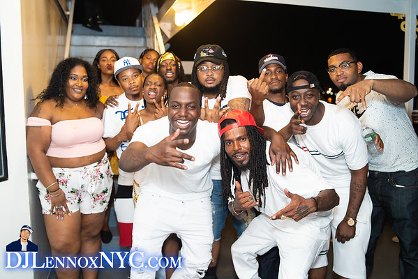 DJ LennoxNYC -5th Annual Boat Ride -All White with a dab of color  (7.3.18)